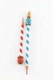 2 карандаша года сбора винограда striped конфетой Стоковое Изображение RF