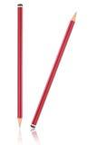 2 карандаша с отражением на белизне Стоковое Изображение RF