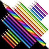 карандаши волшебного карандаша 3d установленные иллюстрация штока
