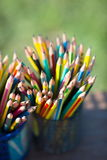 Карандаши в держателе карандаша Стоковая Фотография RF