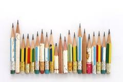 карандаши замыкают накоротко Стоковое Фото