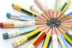 карандаши замыкают накоротко Стоковые Изображения