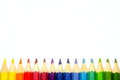 карандаши изолированные цветом Стоковые Изображения