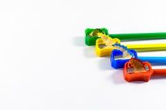Карандаши и заточник Стоковое Изображение RF