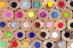 Карандаши покрашенные текстурой как предпосылка Стоковые Изображения