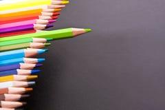 карандаши покрашенные чернотой Стоковое Изображение