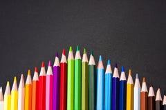 карандаши предпосылки черные Стоковые Изображения