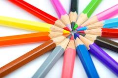 карандаши творческих способностей принципиальной схемы цвета Стоковая Фотография RF