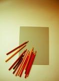 Карандаши ` художников Стоковые Фото