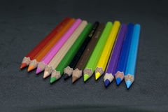 Карандаши цвета, брить карандаша цвета Стоковые Фотографии RF