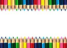 Карандаши цвета изолировали framebackground Стоковое Фото
