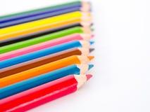 Карандаши цвета, конец вверх Стоковая Фотография