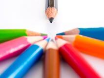 Карандаши цвета, конец вверх Стоковые Фотографии RF