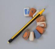 Карандаши цвета на белой предпосылке Стоковое Изображение
