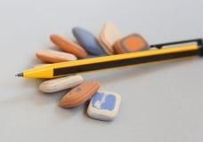 Карандаши цвета на белой предпосылке Стоковые Фотографии RF