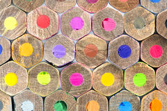 Карандаши цвета, текстура Стоковая Фотография RF