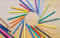 Карандаши цвета для текстуры Стоковая Фотография