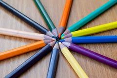 Карандаши цвета для текстуры Стоковые Изображения RF