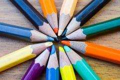 Карандаши цвета для текстуры Стоковые Фото