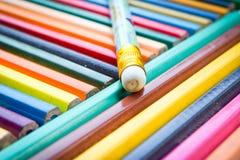 Карандаши цвета для текстуры Стоковая Фотография RF