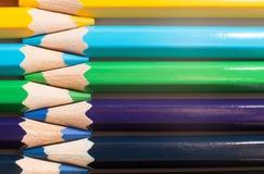 Карандаши цвета ` s детей для рисовать Стоковое Фото