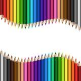 Карандаши шаблона радуги красочные иллюстрация вектора