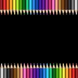 Карандаши шаблона радуги красочные иллюстрация штока