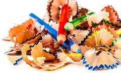 Карандаши shavings цвета Стоковые Фотографии RF