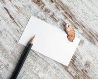 карандаш визитной карточки Стоковая Фотография