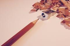 Карандаш и заточник Стоковое Изображение RF
