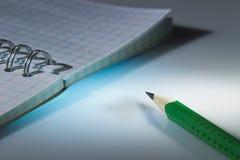 Карандаш и тетрадь Стоковая Фотография RF