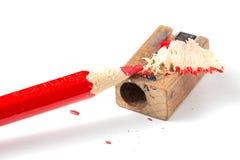 Карандаш и точилка для карандашей Стоковое Фото