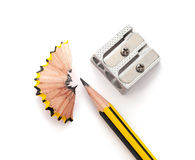 Карандаш и sharperner карандаша Стоковая Фотография RF
