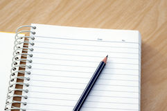 Карандаш с тетрадью Стоковая Фотография RF