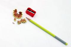 карандаш точит стоковое фото