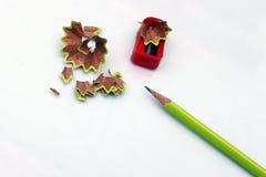 карандаш точит стоковые фото