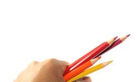 Карандаш цвета в руке Стоковые Фотографии RF
