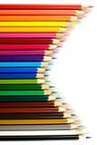 Карандаш цвета на бумажной предпосылке Стоковые Изображения