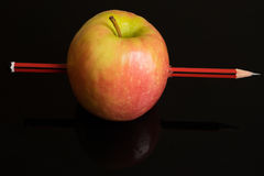 Карандаш Яблока Стоковое фото RF