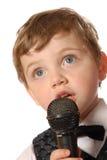 караоке мальчика Стоковое Фото