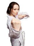карате девушки Стоковая Фотография