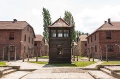 Караульное помещение Освенцима стоковое изображение rf