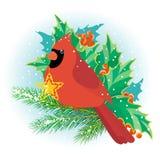 кардинальное рождество Стоковые Изображения