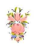 Карельский фольклорный мотив традиционное орнамента русское Стоковые Фотографии RF