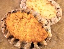 2 карельских пирога с завалкой моркови и риса Стоковые Фото