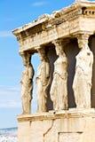 Кариатиды, акрополь, Афиныы Стоковое Изображение RF
