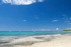 карибская белизна моря песка Стоковое Изображение RF