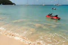 карибская вода бирюзы jetskis Стоковая Фотография