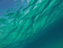 Карибская вода с небом Стоковые Изображения RF