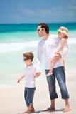 карибская каникула семьи стоковое фото